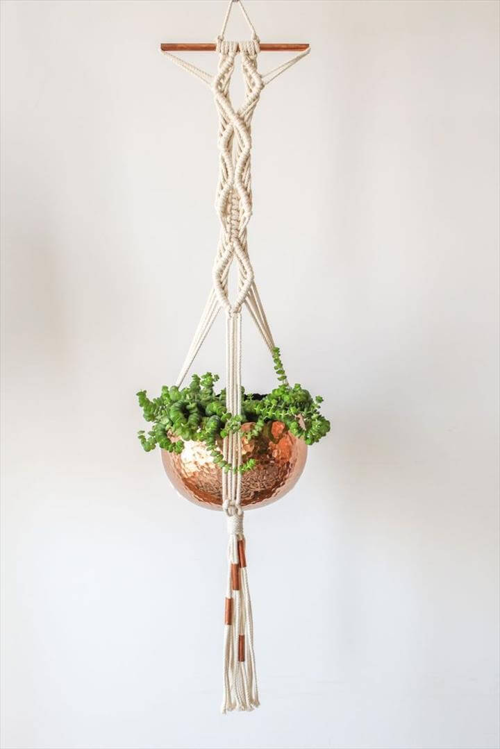 Macrame Plant Hanger :: Copper Love More