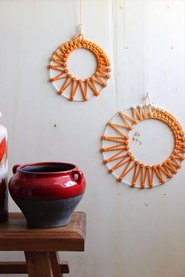 Macrame round wall art