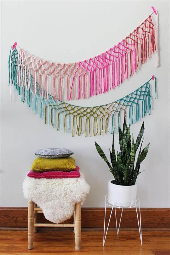 DIYs for Your College Apartment. Diy Macrame Wall HangingMacrame