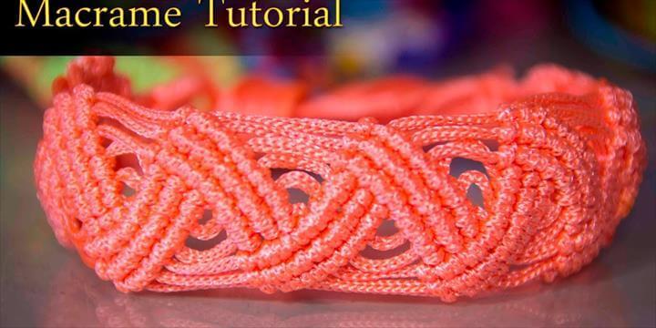 macrame zigzag Bracelet tutorial