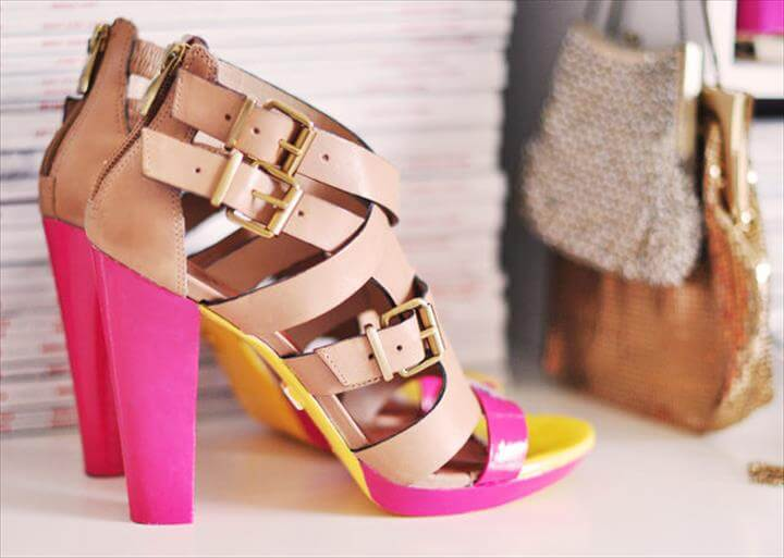 9fb495d51651 Neon Shoes DIY and Painting Leather