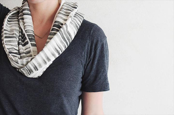DIY No-Sew Stamped Scarf