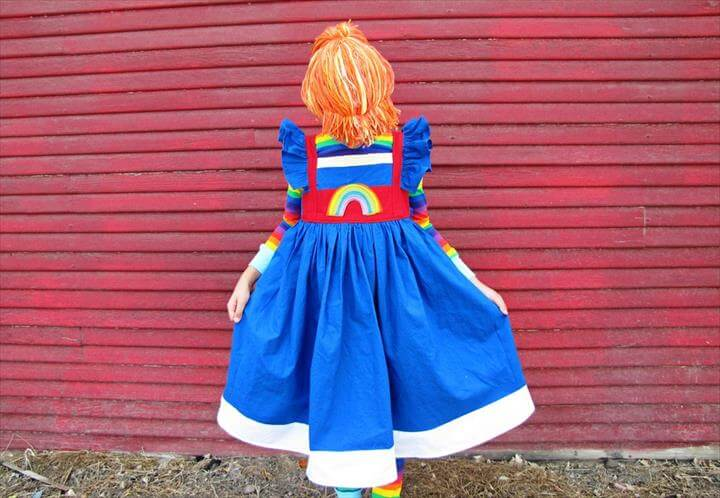 DIY Rainbow Brite YARN WIG