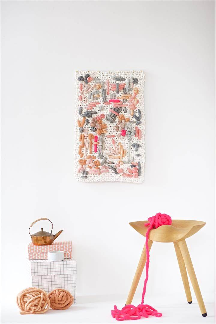 DIY Yarn Wall Hangings