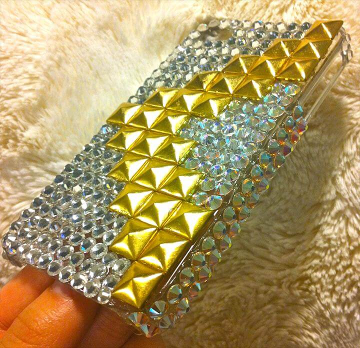 DIY Stud and Rhinestone IPhone Case!