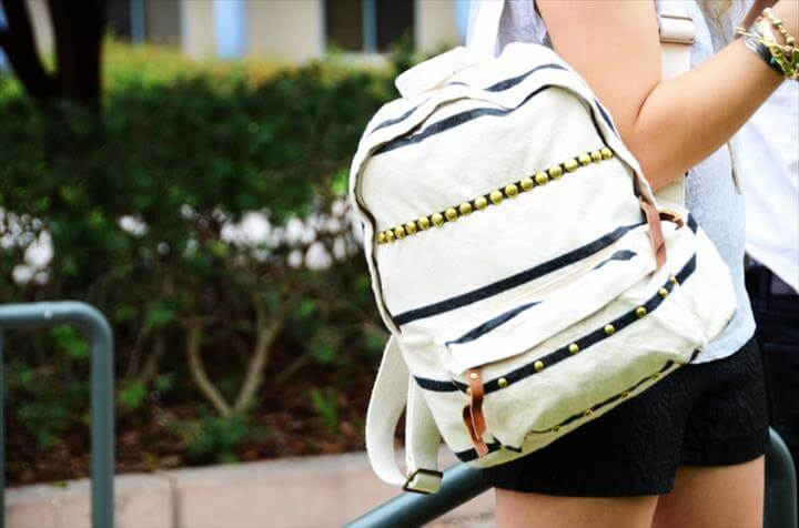 DIY studded backpack