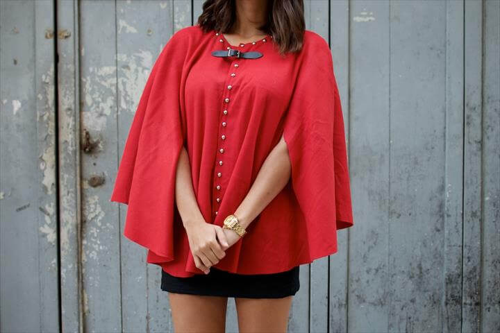 stylish studded cape