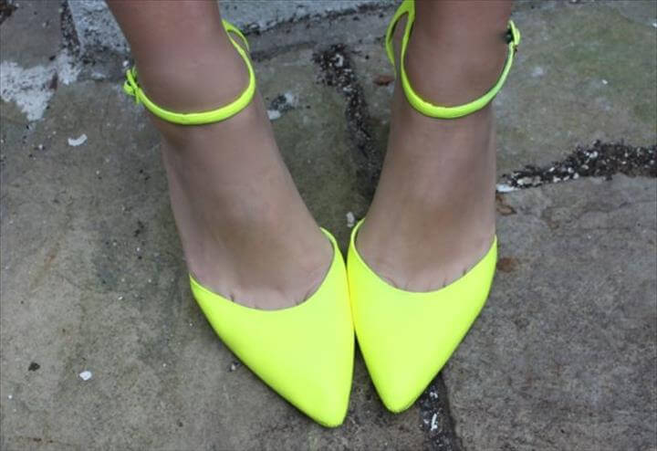 Super Easy Neon Jimmy Choos