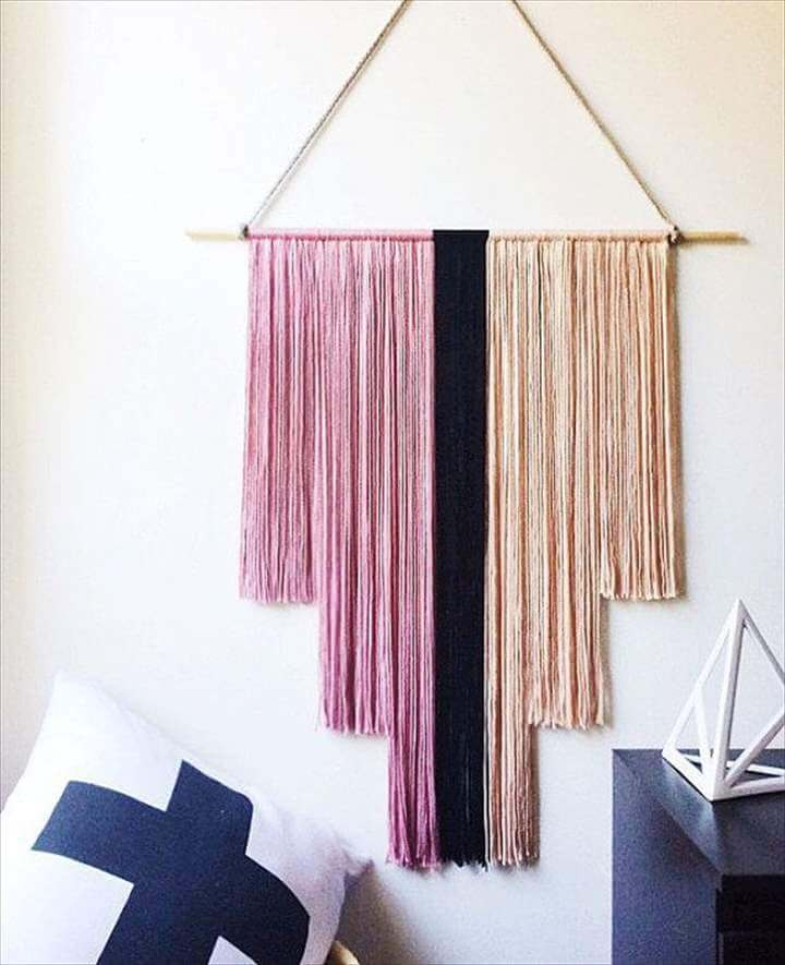 great yarn wall hanging