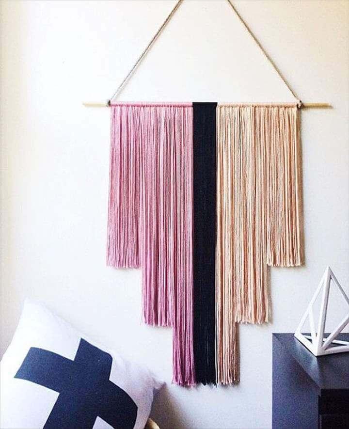 great yarn wall hanging