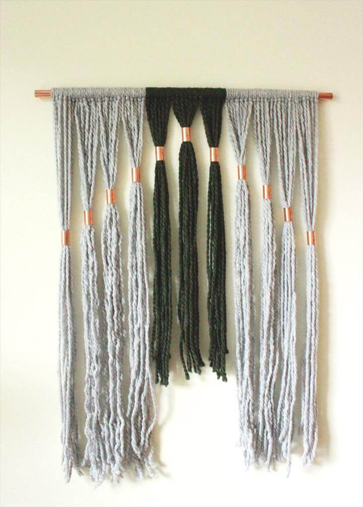 DIY Copper + Yarn Wall Hanging