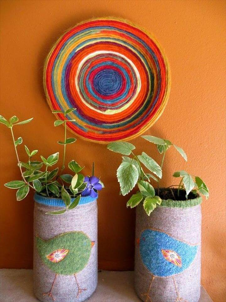 Yarn Plate Wall Hanging