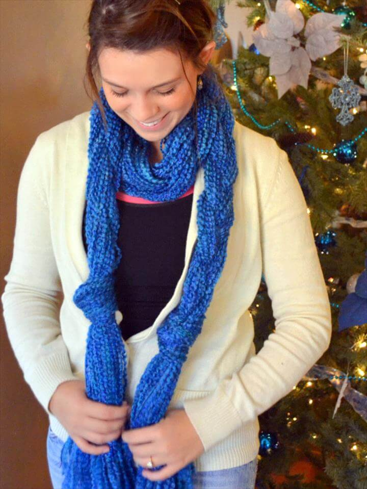 DIY Yarn Scarf No Knit Fun
