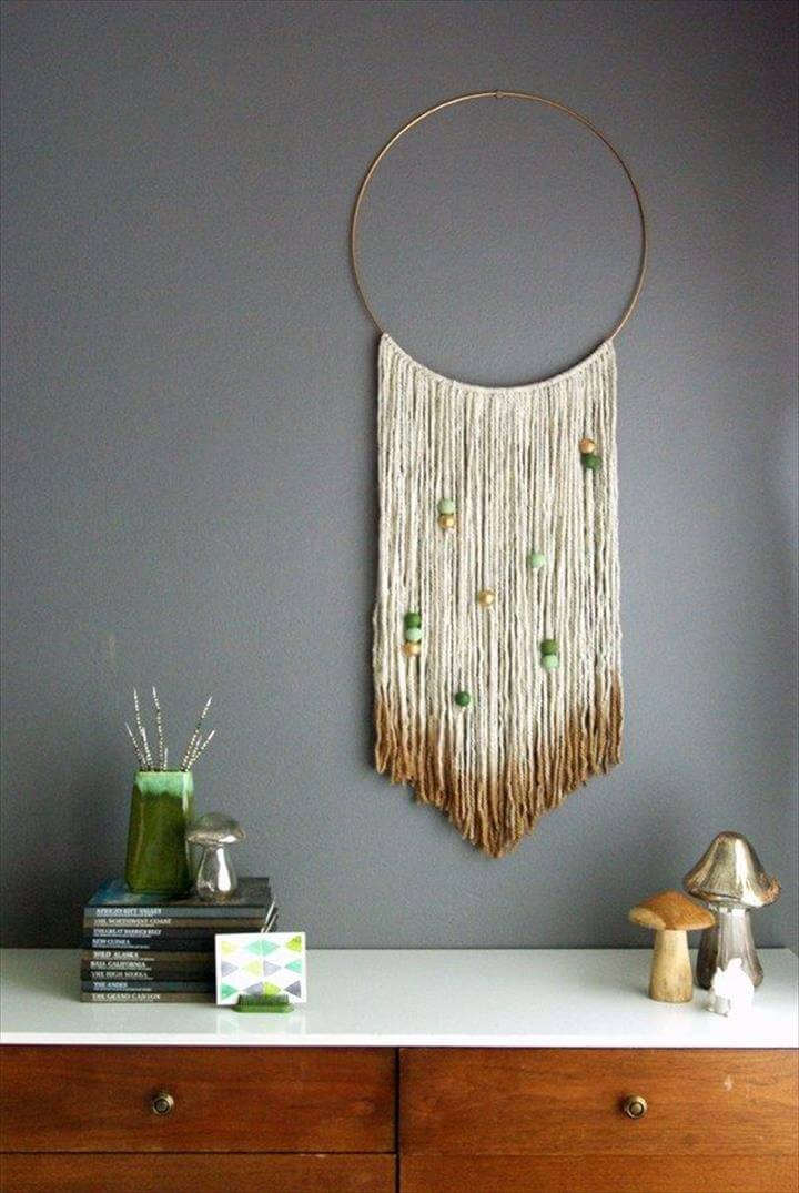 Easy DIY Yarn Art Wall Hanging Ideas
