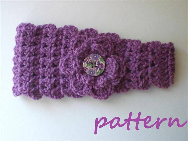 Crochet Headband Earwarmer Pattern