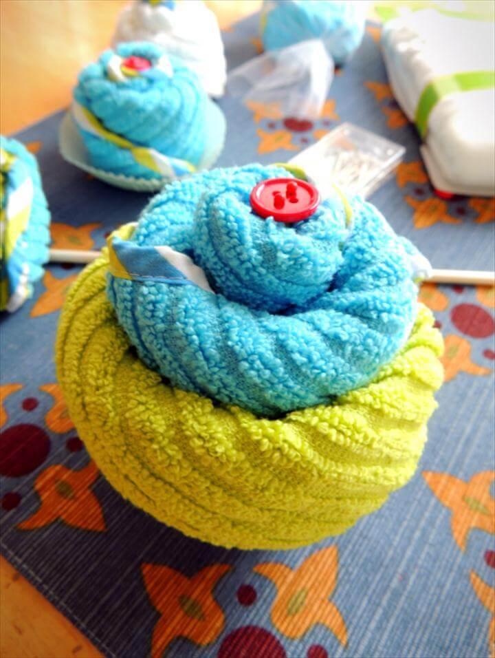Baby Shower Washcloth Gift Idea