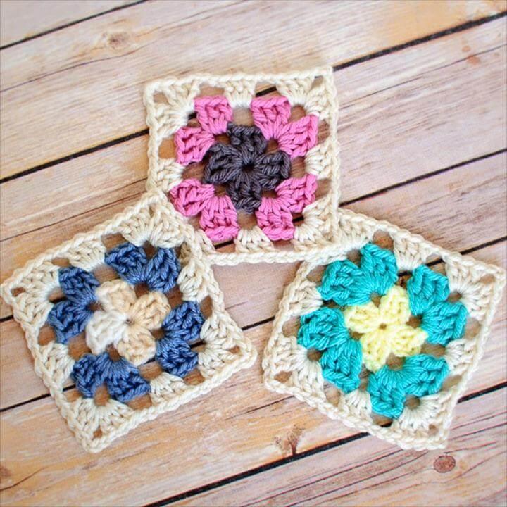 Crochet Granny Square Pattern