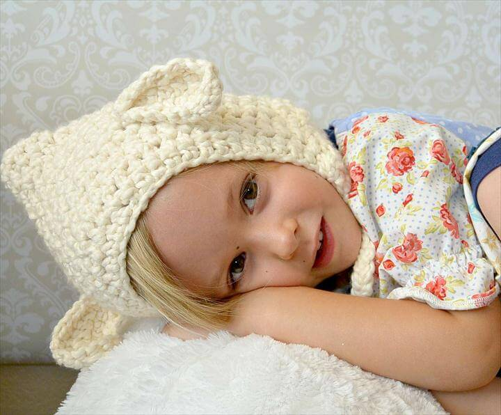 Beginner Toddler Lamb Hat Pattern