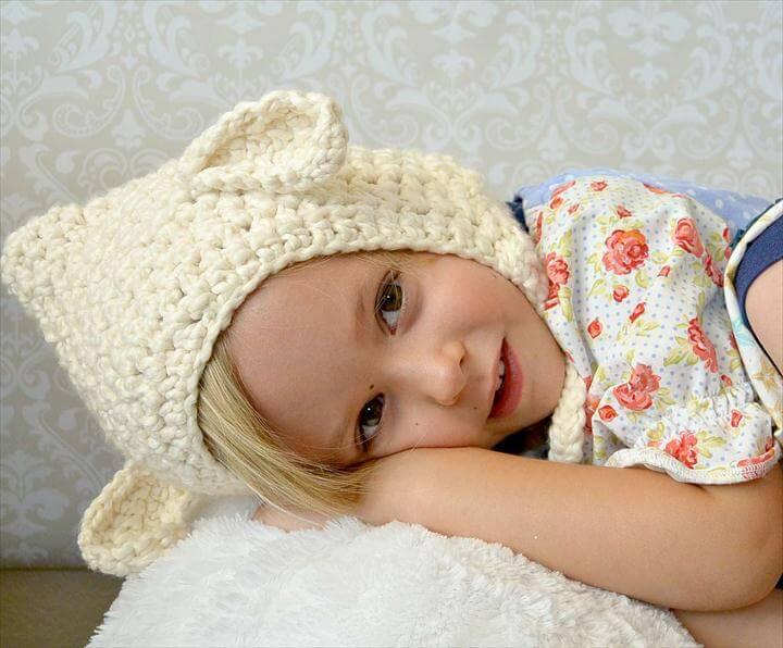 Beginner Toddler Lamb Hat Pattern
