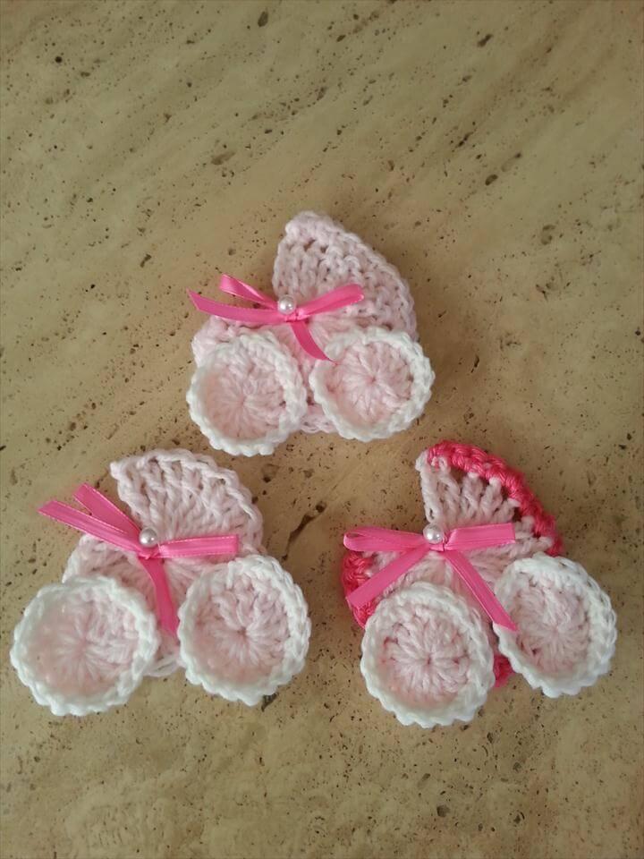 Crochet Baby Shower Carriage Favor DIY Tutorial
