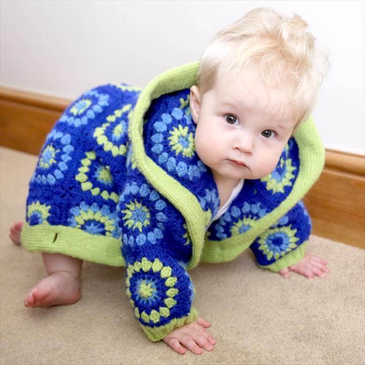 Child's Granny Square Jacket Pattern