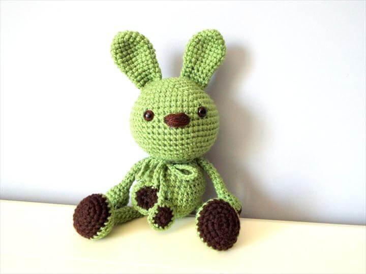crochet green bunny