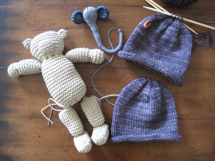 Knitted Baby Shower Gifts