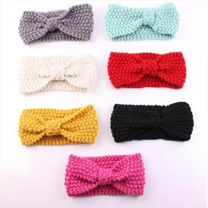 colorful crochet headbands