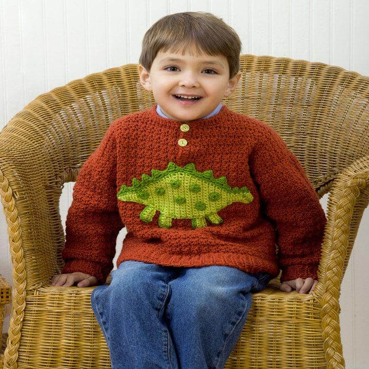 Boys Dino Sweater
