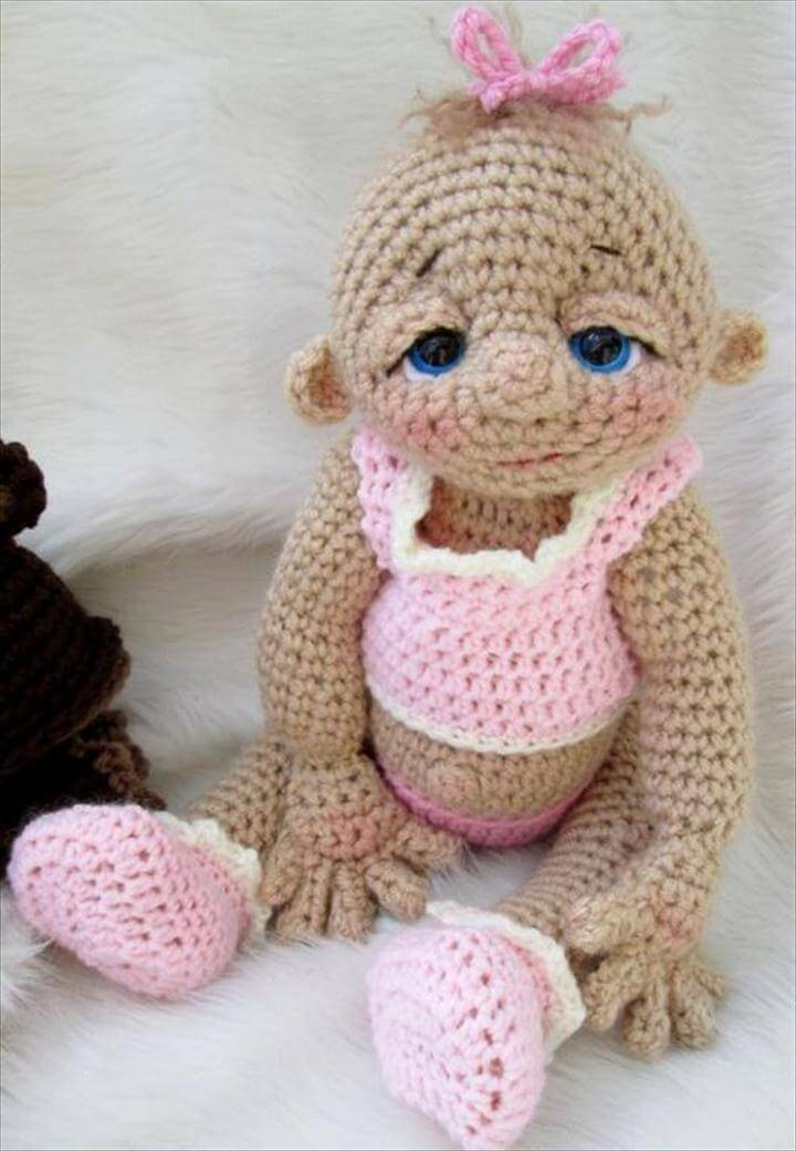 60 Classic DIY Crochet Baby Shower Ideas DIY To Make Mesmerizing Crochet Baby Doll Pattern