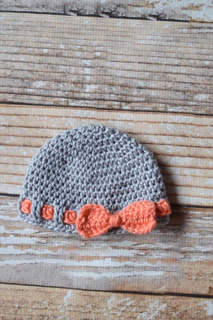 Faux Ribbon Baby Hat