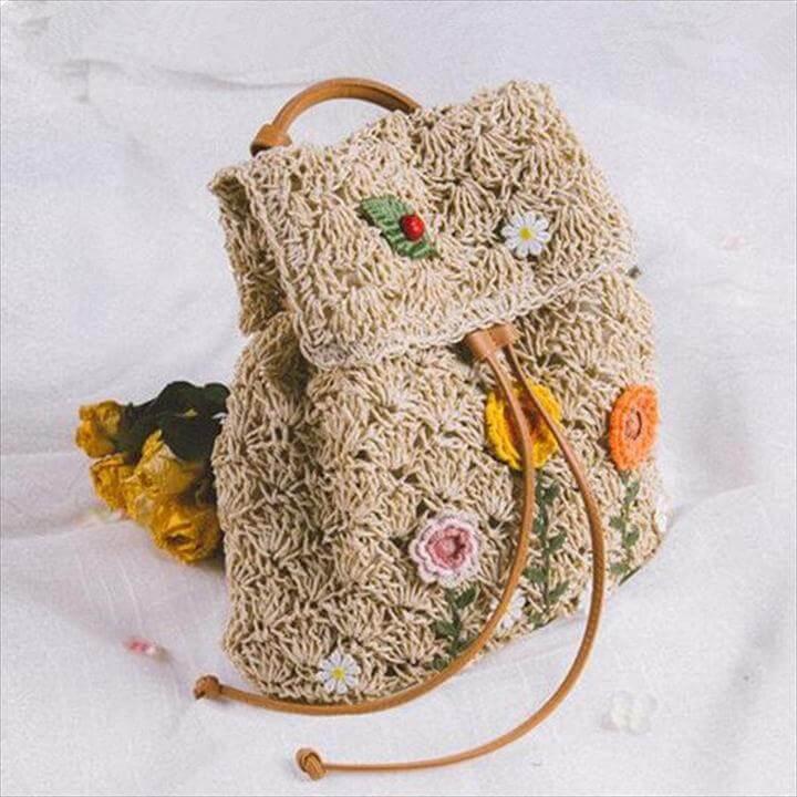 brown crochet purse tutorial