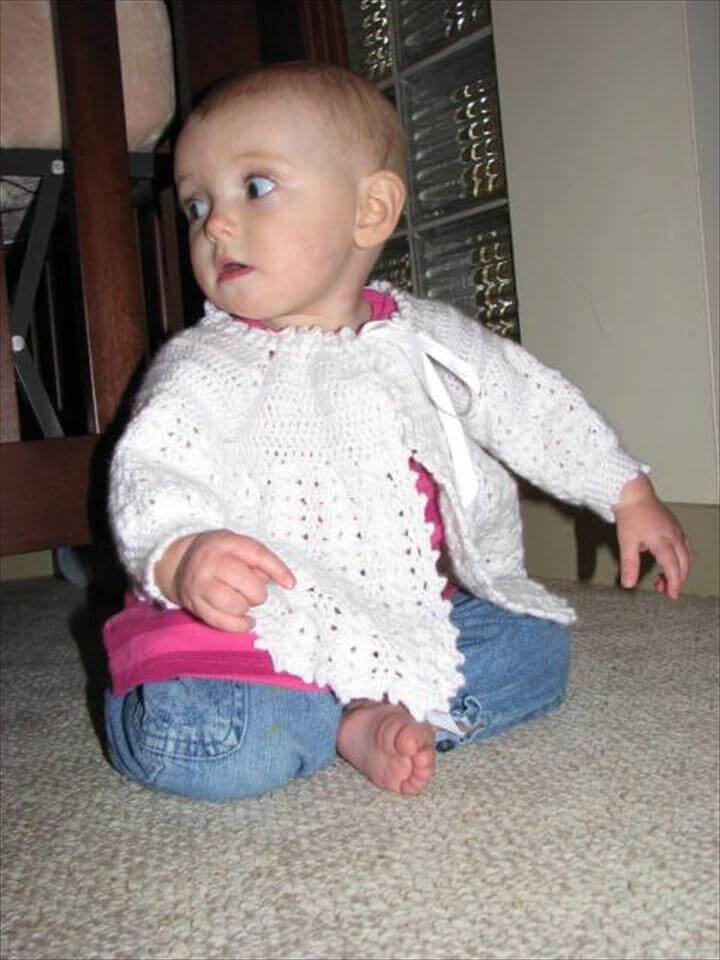 Baby Sweater Free Vintage Crochet Pattern