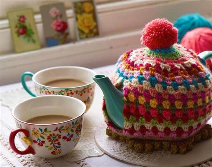 colorful tea warmer