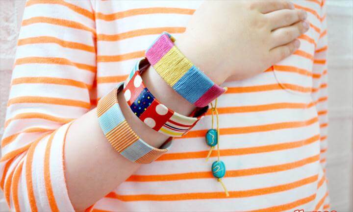 diy bracelet and bagles