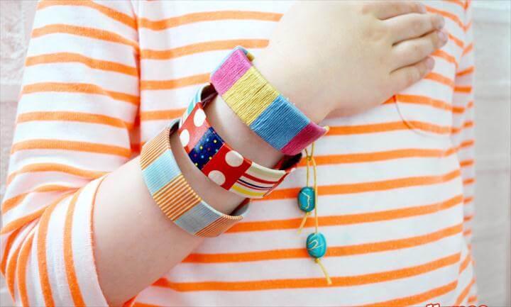 diy bracelet and bagles