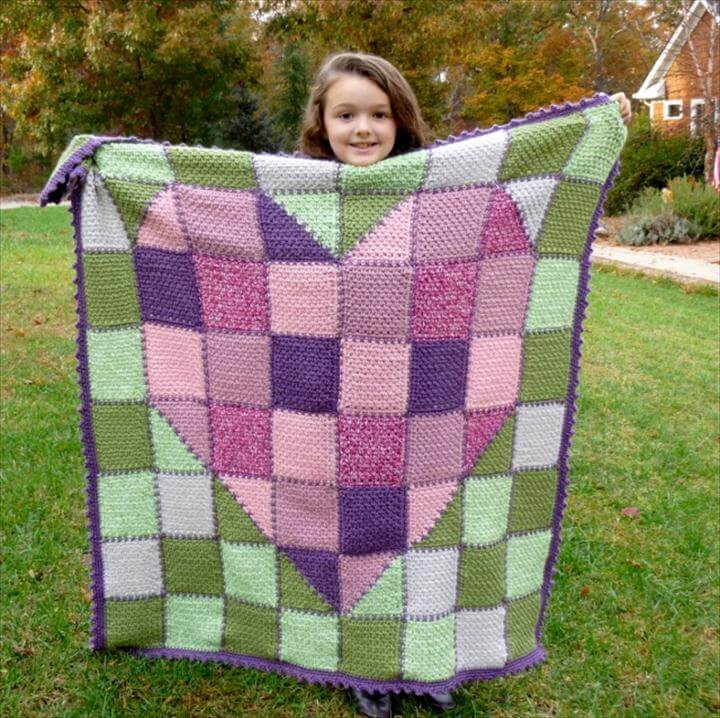 HEART CROCHET BLANKET