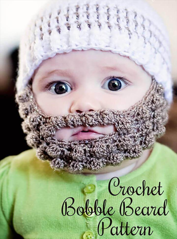 Crochet Bobble Beard pattern