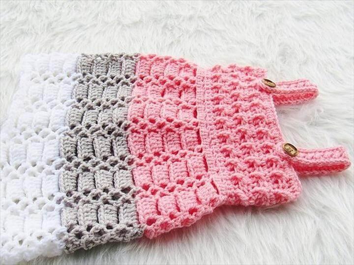 Cotton Candy Jumper Crochet Baby Dress Pattern