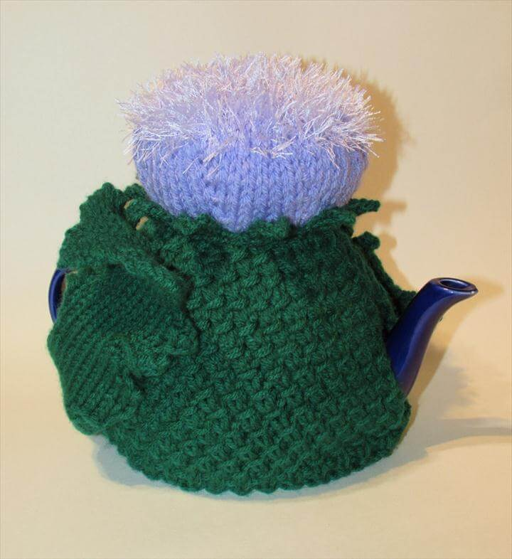 Scottish Thistle Tea Cosy and Knitting Pattern