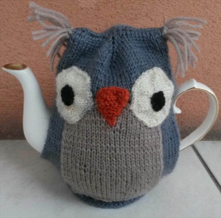 Owl Teapot Cozy – Free Knitting Pattern