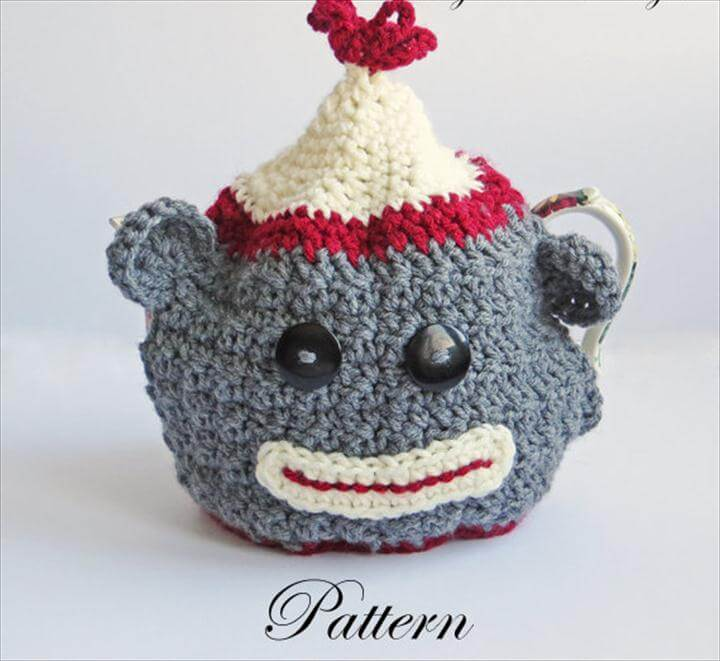 Crochet Tea Cozy PATTERN, Sock Money Teapot Cover, Teacozy, PDF Tutorial, Warmer, Kitchen Decor