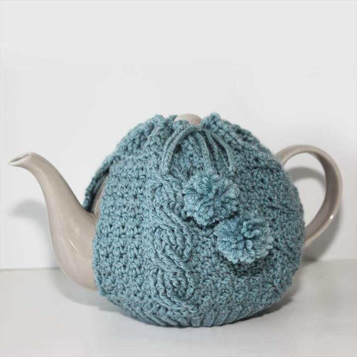 new crochet pattern - tea time cozy