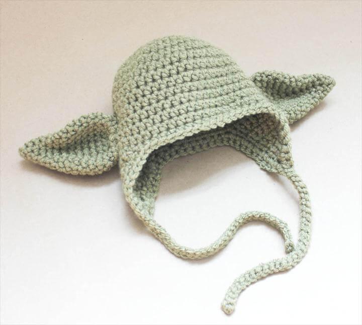 Crochet Yoda Hat
