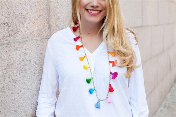 diy tassel necklace, do it yourself