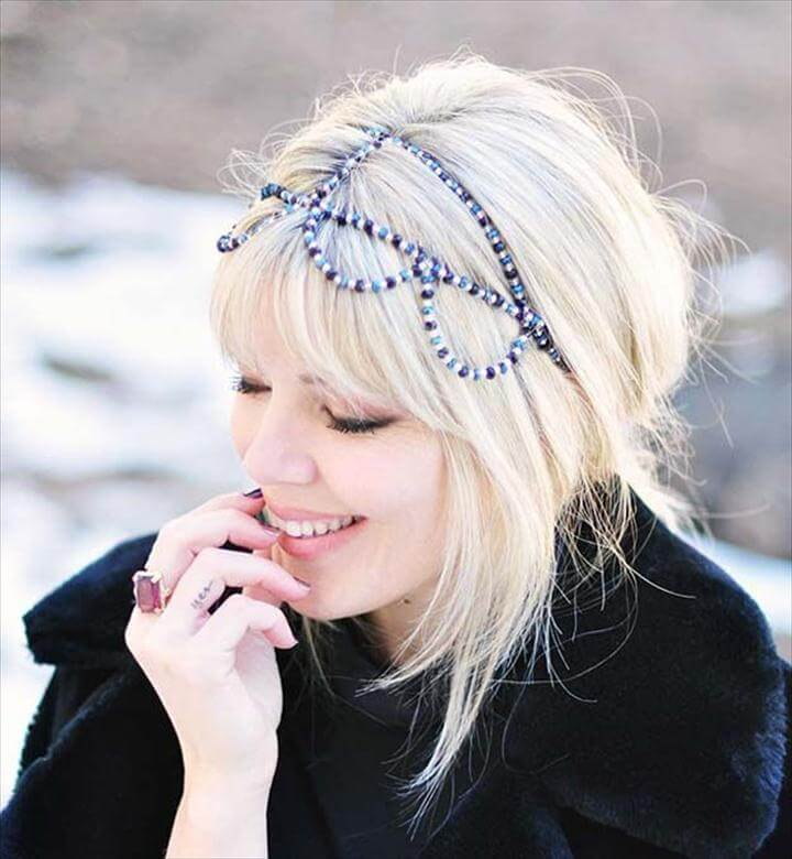 DIY Hair Accessories - Beaded Headband
