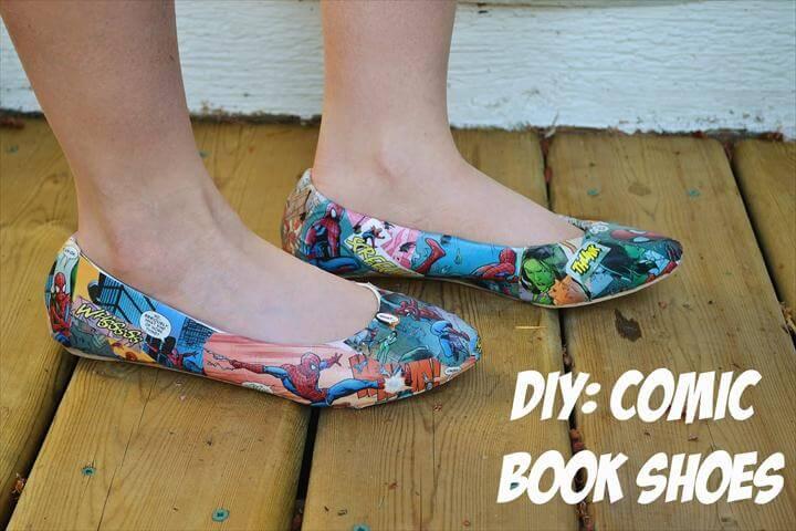 DIY: Comic Book Shoes