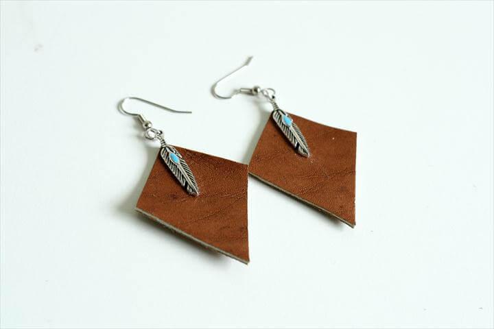 DIY Leather Earrings