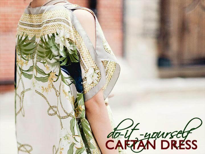 diy fashion, diy scarf dress, dress design