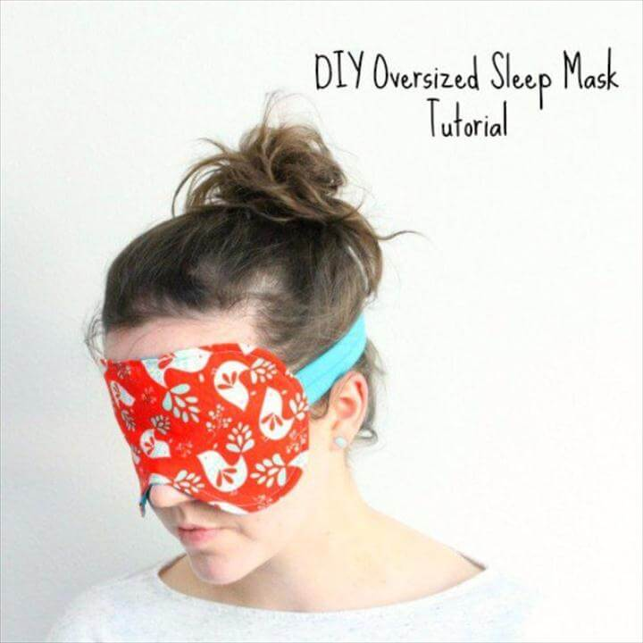 Easy Sewing Projects to Sell - How To Sew An Oversized Sleep Mask - DIY Sewing
